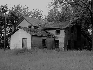 Abandoned Houses 009 b and w